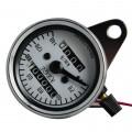 Universal Fit All Motorcycle New Stainless Steel Dual Odometer Speedometer Meter Gauges Double Mileage Meter Night light
