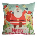 Sankuwen Home Decoration Pillowcase Christmas Pillow Cushion Cover (Santa Claus)
